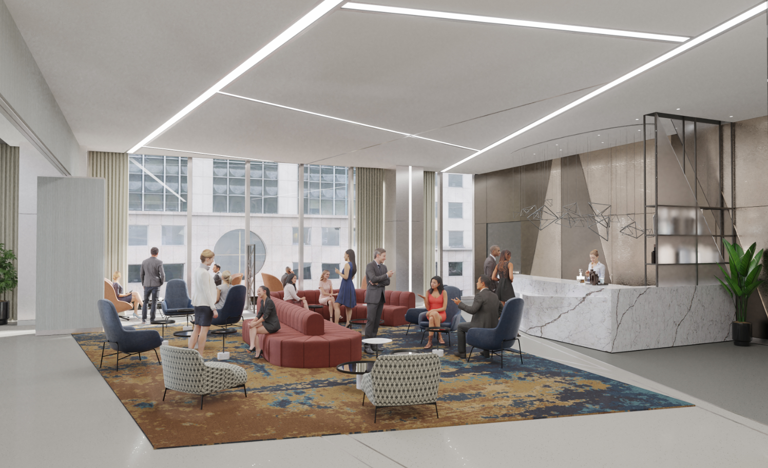 Hospitality Feel Plays Key Role in Interior Amenity Spaces at New Chicago Tower